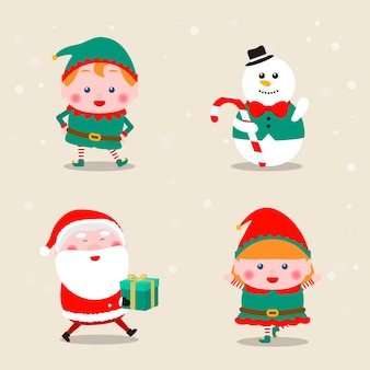 Collection of christmas themed icons