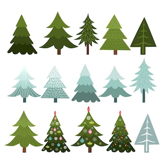 Collection of christmas trees