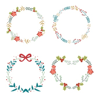 Collection of christmas wreath