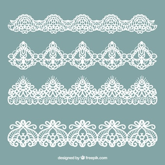 Collection of classic lace ornaments