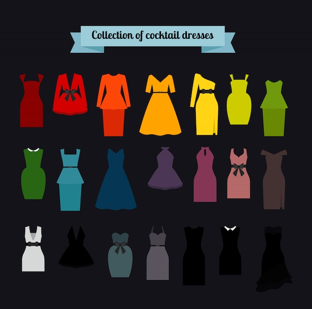 Collection of cocktail dresses