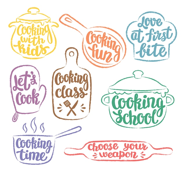 Collection of color cooking logo