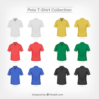 Collection of colored polo t-shirt