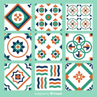 Collection of colorful abstract tiles