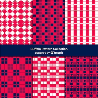 Collection of colorful buffalo pattern