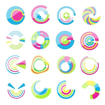 Collection of colorful design elements