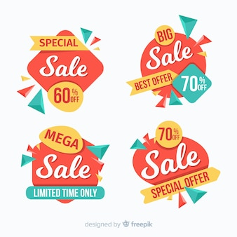 Collection of colorful origami sale banner