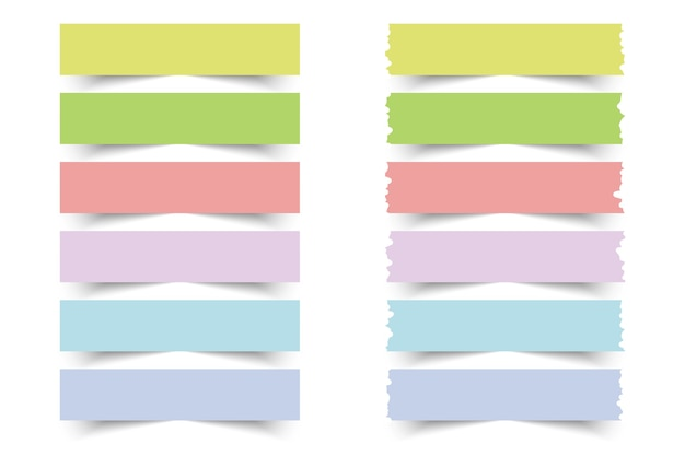 Collection of colorful sticky notes.