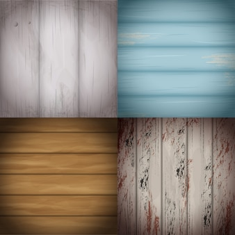 Collection of colorful wooden surfaces