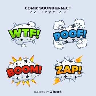 Collection of comic sound effects