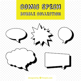 Collection of comic speech bubble