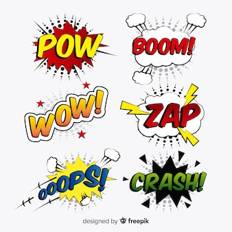 Collection of comic speech bubbles