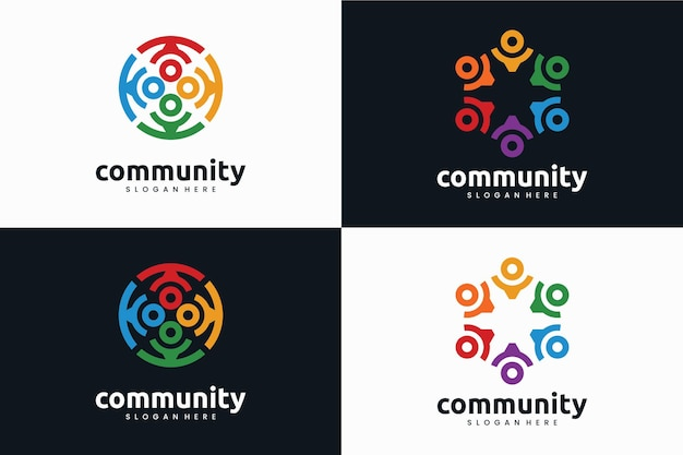 Collection of community logo template