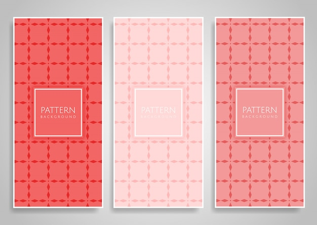 Collection of coral colour vertical background designs set