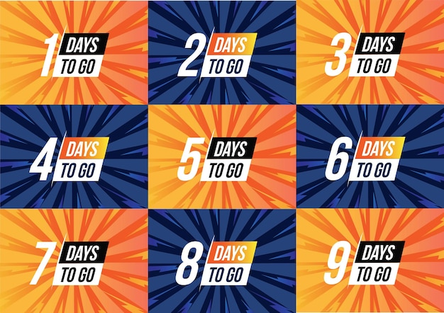 Collection of countdown banner sale reminder