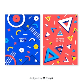Collection of covers in memphis style