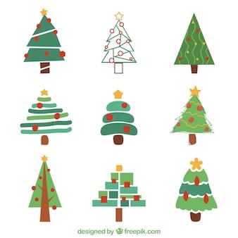 Collection of creative christmas tree