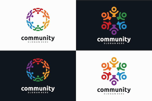 Collection of creative community logo template