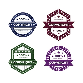 Collection of creative copyright stamps