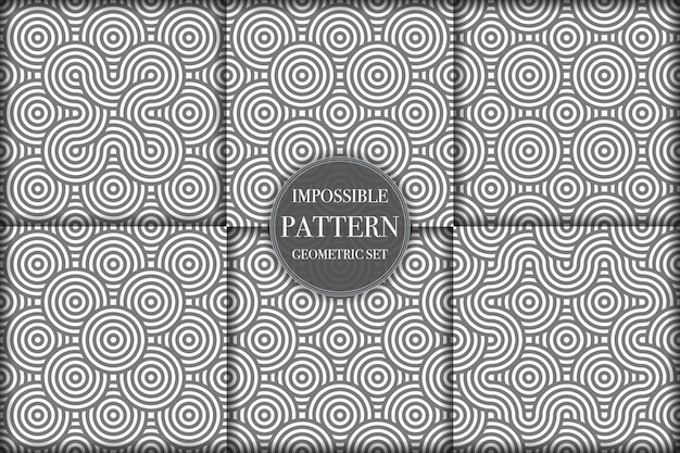Collection of creative geometric pattern backgrounds