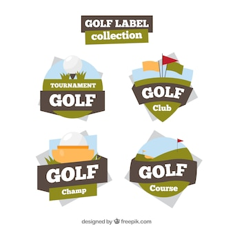 Collection of creative golf labels
