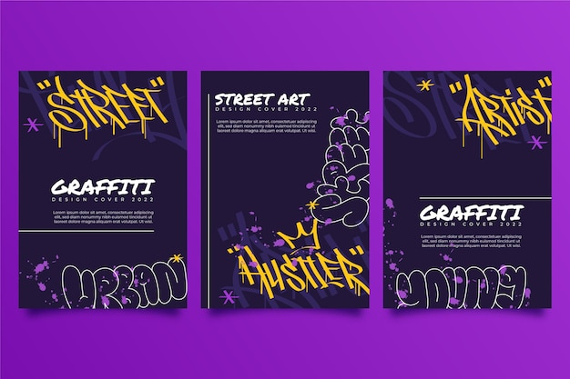Collection of creative graffiti covers