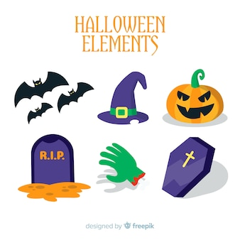 Collection of creative halloween elements