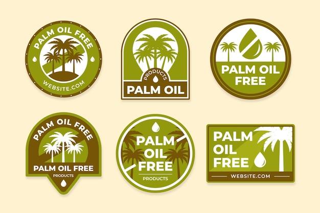 Collezione di badge creativi di olio di palma