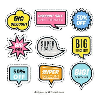 Collection of creative sale sticker