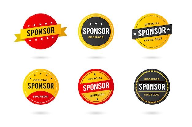 Collezione di adesivi di sponsorizzazione creativi