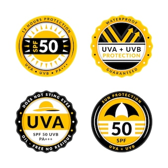 Collection of creative ultraviolet badges