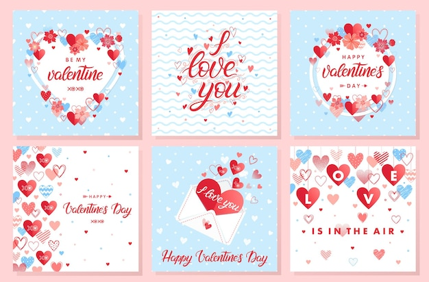 Collection of creative valentines day cards.