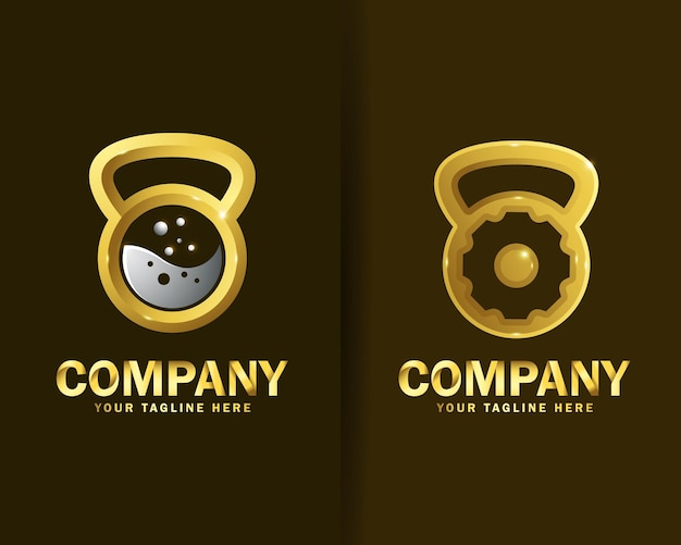 Collection of crossfit logo design templates