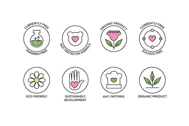 Raccolta di badge cruelty free