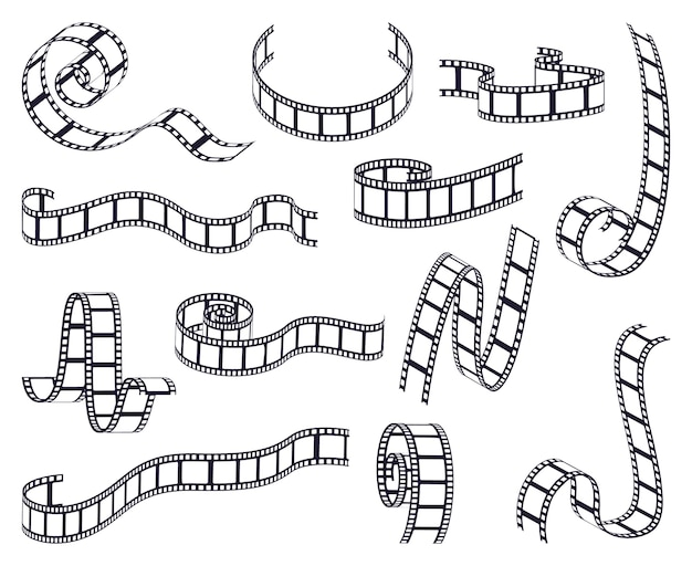 Collection of curved film strip