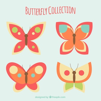 Collection of cute butterflies