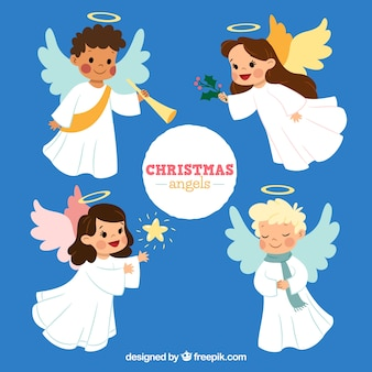 Collection of cute christmas angels
