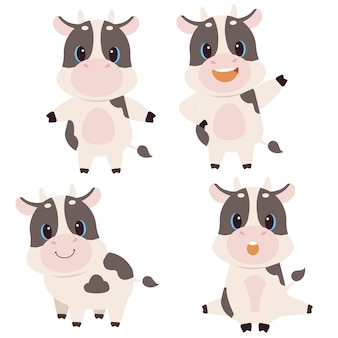 The collection of cute cow