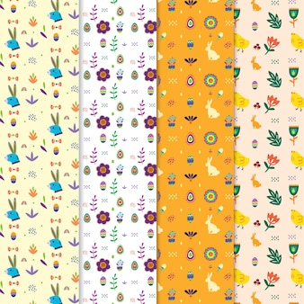 Collection of cute easter patterns