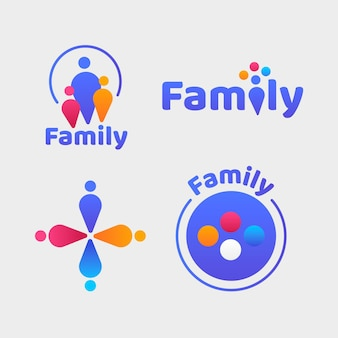 Collection of cute family logos