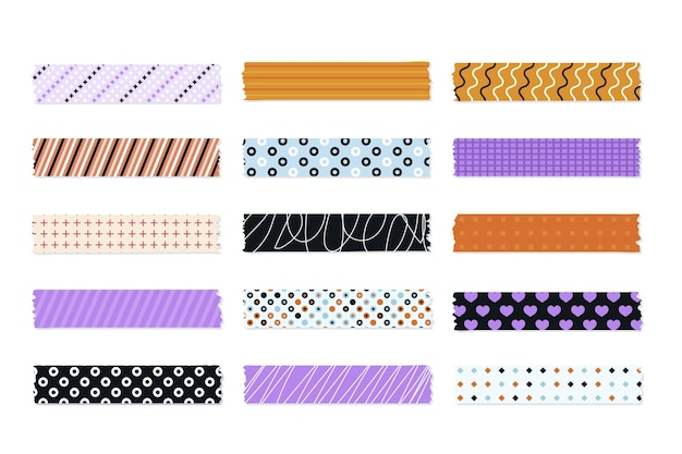 Collection of cute flat washi tapes
