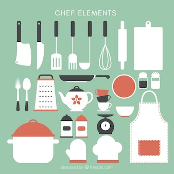 Collection of cute kitchen utensils