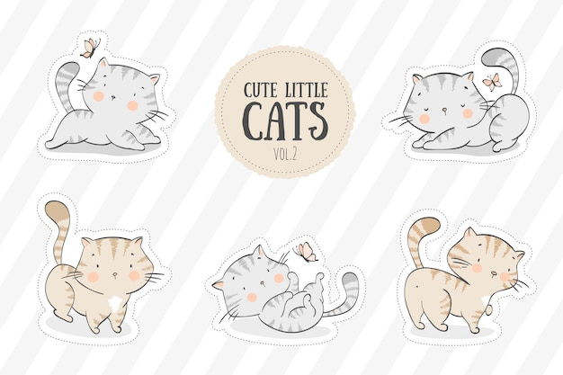 Collection of cute kittens
