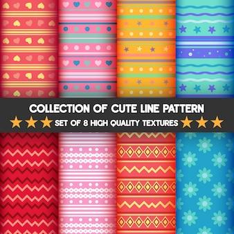セットの可愛いラインパターンがコレクション。