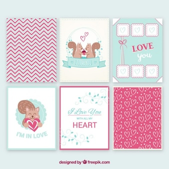 Collection of cute love card