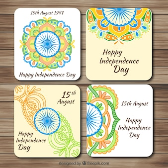 Collection of cute ornamental india card