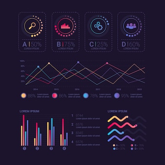 Collection of dashboard elements