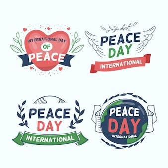 Collection of day of peace badges