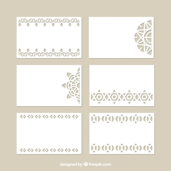 Collection of decorative cards with laser cut