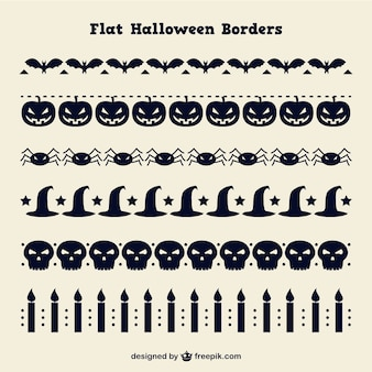 Collection of decorative halloween elements